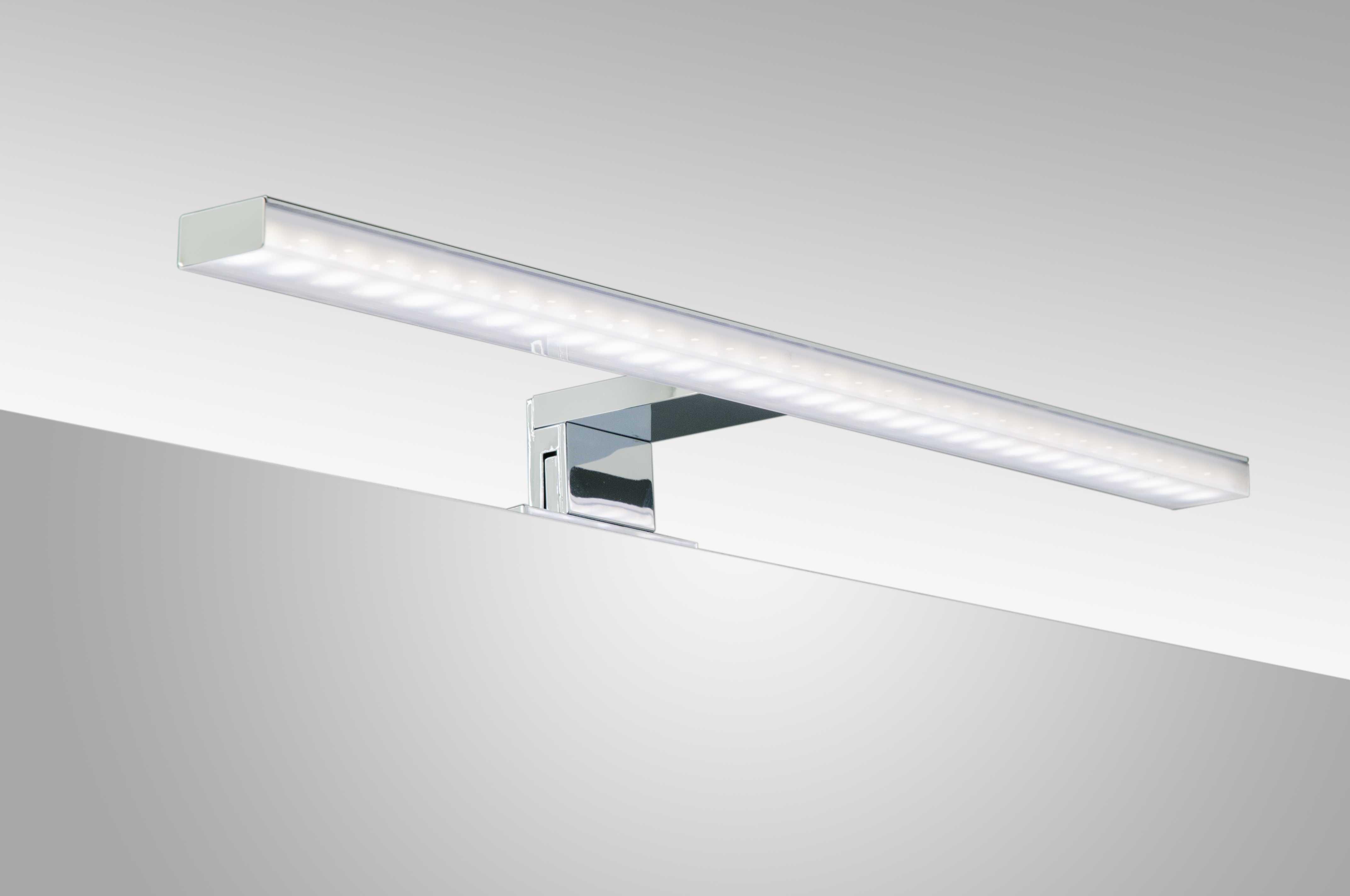 Specchio bagno 120x70 cm specchiera bagno lampada led - Lampade da bagno sopra specchio ...